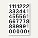 Herma Zahlen 15 mm, 0-9, wetterfest, Folie schwarz, 10 x 1 Blatt, 4164