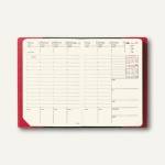 Geschäftbus Prestige Montebello Kalendarium - 10 x 15 cm, Leder glatt, Dali-Ro