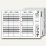 bind Kalendereinlage für DIN A4 Planer, 1 Woche=2 Seiten, A-Z Register, B-2400