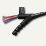 Fellowes Kabelführungssystem Cableeater, 2.5 m, 17 - 23 mm, schwarz, 99439