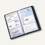 Sigel Visitenkartenbuch Torino, Nappaleder, f. 120 Karten 90x58mm, schwarz, VZ202