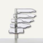 Novus CopySwinger V, 5er-Set mit Ablageschalen B4, lichtgrau, 720+5002+000