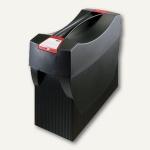 Hängemappenbox Swing-Plus DIN A4, PS, für 20 Mappen/3 Ordner, Deckel, schwarz