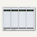 LEITZ Rückenschilder, PC-Beschriftung, breit/kurz, grau, 100 Stück, 1685-20-85