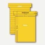 Ultradex T-Karten, liniert, Breitformat, gold, 100 Stück, 541151