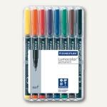 Staedtler Lumocolor Universalstifte permanent 318 F, 0.6 mm, 8er-Etui, 318 WP8