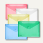FolderSys Dokumententaschen, DIN A5 quer, Klett, sortiert, 100 Stück, 40102-94