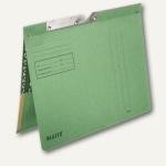 LEITZ Pendelhefter, mit Tasche, DIN A4, 250 g/m², grün, 50 Stück, 2012-00-55