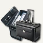 Alassio Pilotenkoffer SILVANA, Laptopfach, Leder, schwarz, 92705