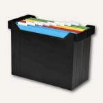 """Elba Hängebox """" Go-Set"""" ohne Deckel, inkl. 8 farbigen Mappen, schwarz, 400005232"""