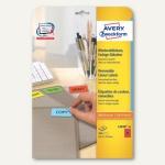 Zweckform Mini-Etiketten, 45.7x21.2mm, farbig, ablösbar, rot, 960St., L6038-20