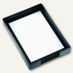 """Läufer """" Modena"""" Briefablage, glattes Rindsleder, 255 x 350 mm, schwarz, 35016"""