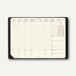 Geschäftbus Prestige Montebello Kalendarium - 10 x 15 cm, Leder glatt, schwarz