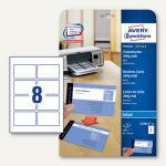 Visitenkarten PREMIUM, 85 x 54 mm, 260g/m², matt, beidseitig, Inkjet, 200 Stück