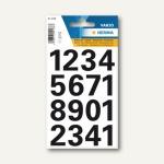 Herma Zahlen 25 mm, 0-9 wetterfest, Folie, schwarz, 10 x 1 Blatt, 4168