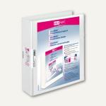 Präsentationsbücher VELODUR, DIN A4, 2-Ring-Hebelmechanik Ø 40 mm, weiß, 10 St.,