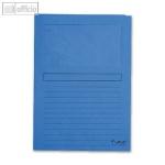 Exacompta Sichtmappen DIN A4, Karton, 120g/m², dunkelblau, 100 Stück, 50102E