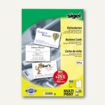 Sigel PC-Visitenkarten, 200 g/m², 85x55mm, hochweiß, 150 Stück, DP839