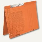 LEITZ Pendelhefter, DIN A4, 250 g/qm, Amtsheftung, orange, 50 Stück, 2094-00-45