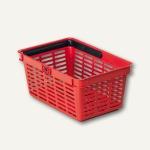 Einkaufskorb Shopping Basket 19 Liter, H 250 x B 400 x T 300 mm, rot, 1801565080