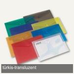 Rexel Carry Folder, DIN A4, türkis-transluzent, 25er Pack, 16129BU