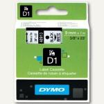Dymo D1 Etikettenband, 9 mm x 7 m, schwarz auf weiß, S0720680/41913