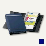 Durable Visifix Visitenkartenringbuch, für 200 Karten, dunkelblau, 2385-07