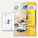 Zweckform DVD-Etiketten SuperSize, für alle Drucker, 117 mm, 40 Stück, L7860-20