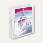 Präsentationsringbücher VELODUR, DIN A4, 2 D-Ringe Ø 40 mm, weiß, 10 Stück