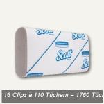 SLIMFOLD-Handtücher, 6-fach Falzung, 29.5 x 19 cm, 1-lagig weiß, 1.760 Tücher