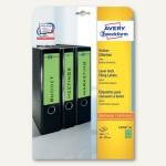 Zweckform Ordner-Etiketten, schmal/kurz, grün, 140 Etiketten, L4764-20