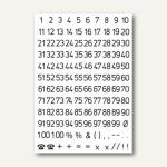 Herma Zahlen 5 mm, 1-100, wetterfest, Folie, schwarz, 10 x 2 Blatt, 4155