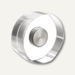 """Neodym-Magnete """" Design"""", Ø20 mm, 1.6 kg, Acryl, transparent, 8 Stück, 1680020"""
