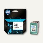 HP Tintenpatrone Nr.351, 3, 5 ml, color, CB337EE