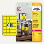 Zweckform Etiketten, wetterfest, 45.7 x 21.2 mm, gelb, 960 Stück, L6103-20