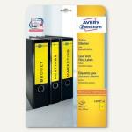 Zweckform Ordner-Etiketten, breit/kurz, gelb, 80 Stück, L4769-20