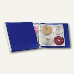 Durable CD/DVD Album 96, silber/blau, 5277-23
