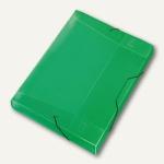 Veloflex Sammelbox Crystal A4, PP, 30mm Füllhöhe, transp. grün, 12 St., 4443240