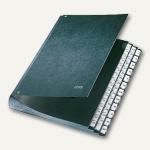 LEITZ Pultordner DIN A4, Fächer 1-31 und I-XII, Hartpappe, schwarz, 5844-00-95