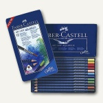 Faber-Castell Farbstift ART GRIP AQUA, sortiert, 12er Metalletui, 114212