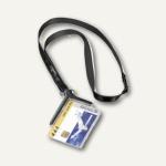 Ausweishalter CARD HOLDER DE LUXE 54 x 85 mm, mit Textilband, 10 St., 8207-58