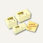 Post-it Notes Promopack, 24 x 100 Blatt, verschiedene Größen, gelb, 654655P
