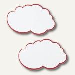 Franken Moderationswolken, 25x42 cm, weiß/roter Rand, 20 Stück, UMZW