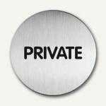 "Durable Edelstahl-Piktogramm "" Private"", Ø 83 mm, 2 Stück, 4924-65"