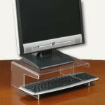 Monitorständer für TFT m. Tastaturablage, transparent, 3 St., 761120