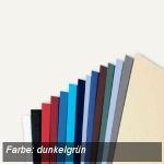 GBC Einbanddeckel LeatherGrain, A4, Karton 250g/qm, dunkelgrün, 100 St., CE040045