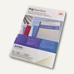 GBC Einbanddeckel PolyClearView, DIN A4, PP, 300 mic., matt, 100 St., IB386848