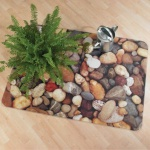 Bodenschutzmatte foto ultimat, Kieselsteine, Hartböden, 90 x 120 cm