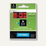Dymo D1 Etikettenband, 12 mm x 7 m, schwarz auf rot, S0720570