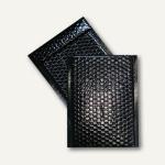 Geschenk-Luftpolstertaschen 170 x 245 mm, haftklebend, schwarz metallic, 200 St.